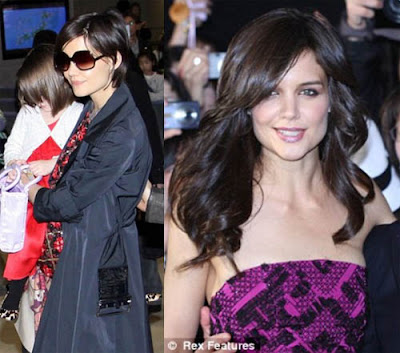 Katie Holmes Long Hair on News And Gossip  Katie Holmes With New Long Hair Extensions In Japan