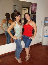 Melina Castelli y la prof.: Daiana Garcia