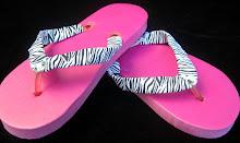 Flip Flops-Zebra/bling (SMP-M020)