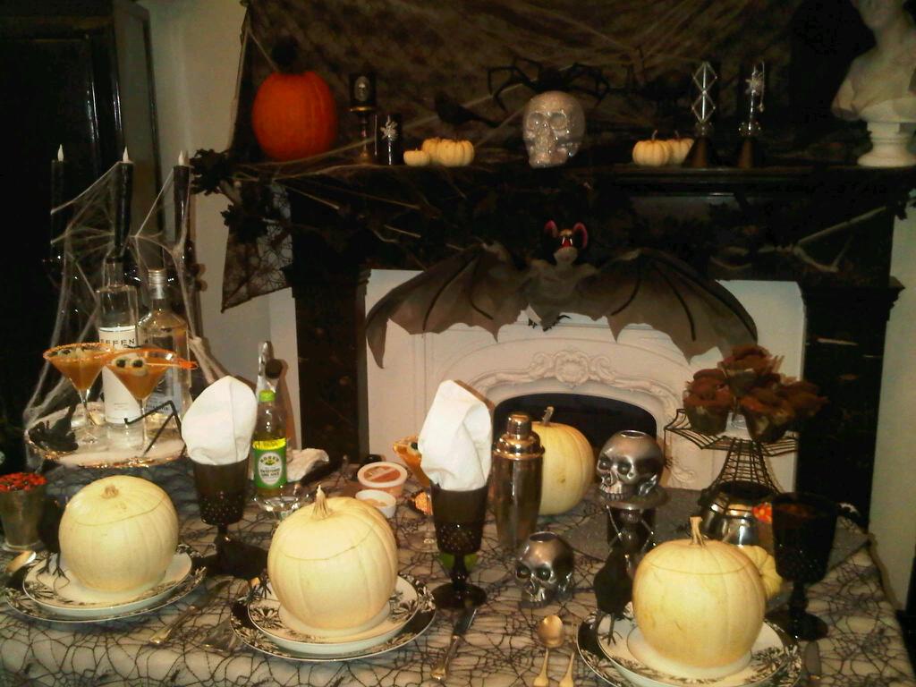 celebrate everyday: haunted halloween dinner party decor