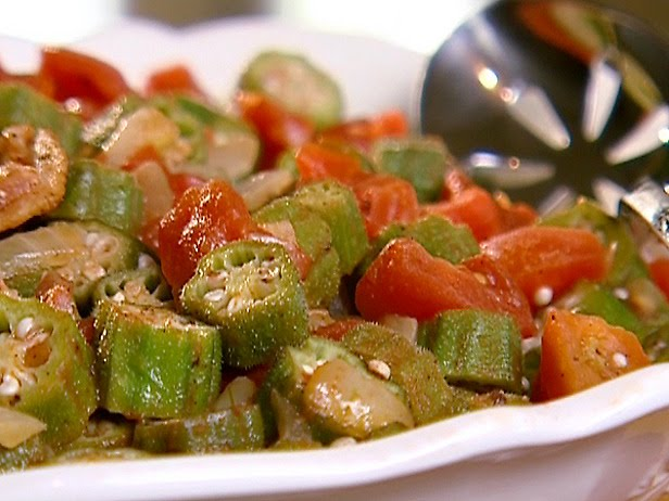 Savory Moments: Stewed okra and tomatoes with andouille sausage