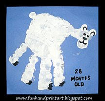 Handprint Polar Bear - Polar Bear Day