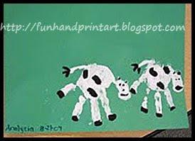 Handprint+cows