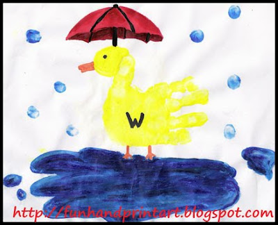 weather craft handprint duck