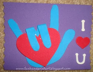 Love  Sign Language Picture on Handprint Sign Language I Love