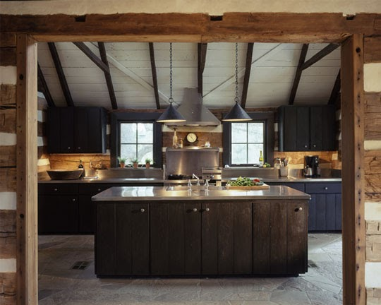 Before And After This Renovated Ranch Kitchen Beautifully Blends Rustic With Modern: Cabin Fervor: Wanted: Log Home Inspiration