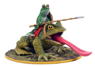 frog mounted warrior