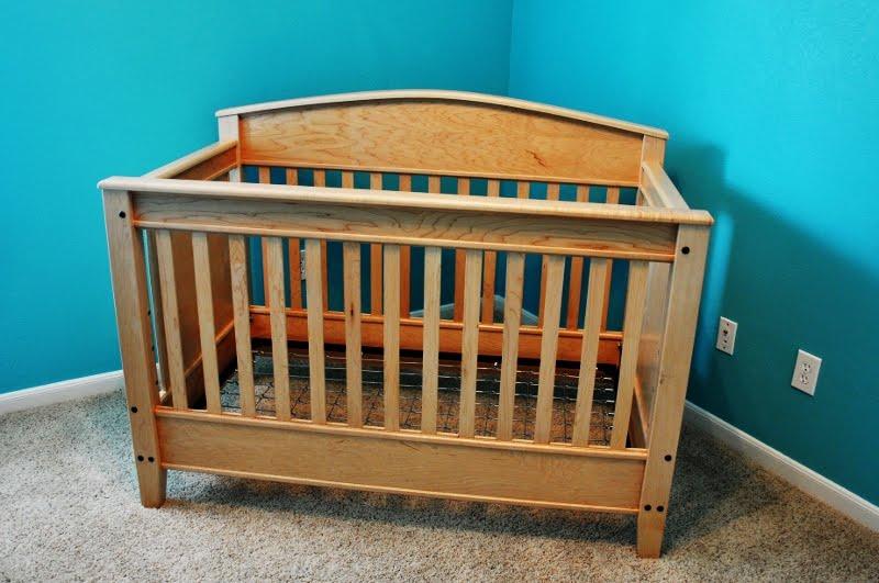 handmade maple baby crib