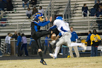 Terrence Fussell blocks the punt