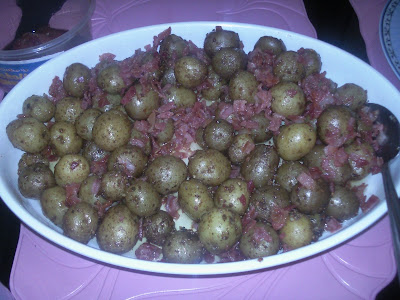 Buttered Baby Potatoes with Crispy Bacon