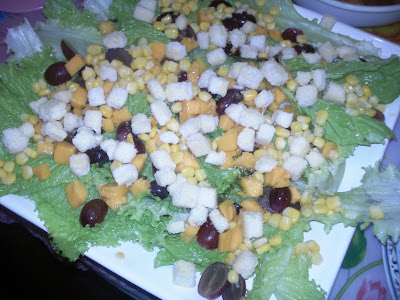 home-made vegetable salad