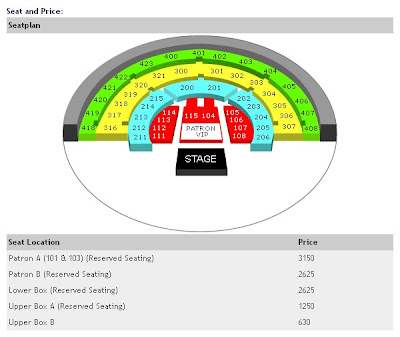Record Breaker Ticket Price and Seat Plan