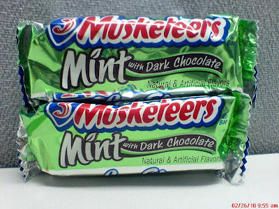 3 Musketeers Mint with Dark Chocolate
