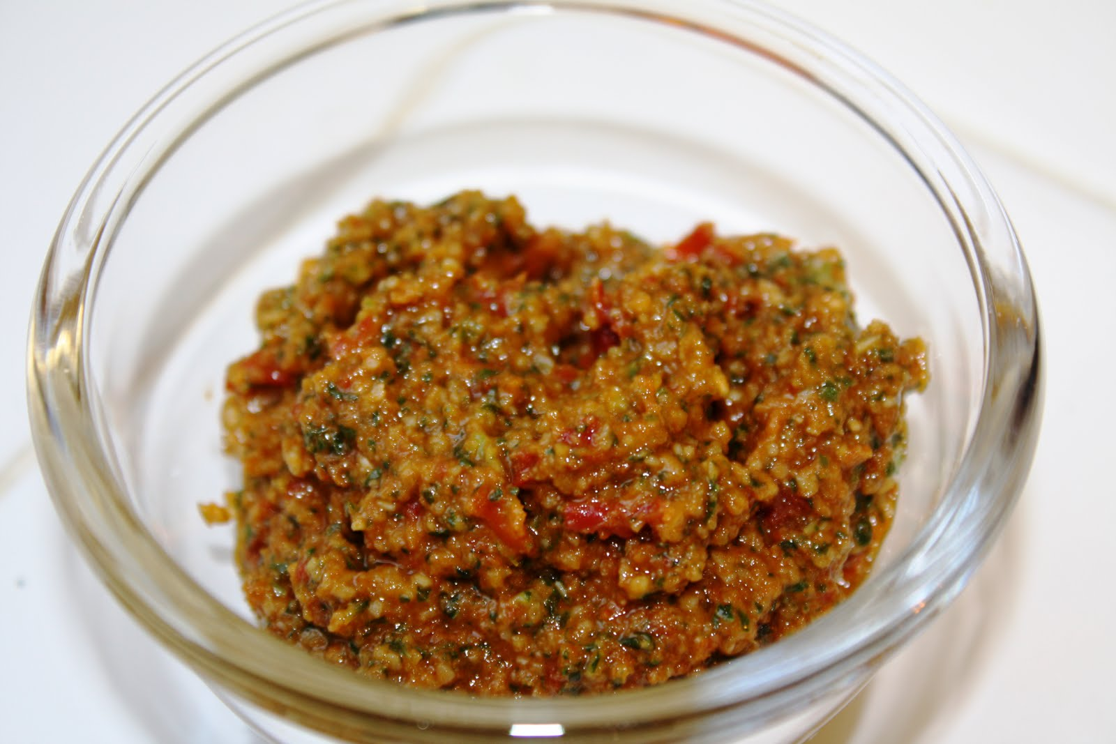 the traditional pesto recipe contains sun-dried tomatoes. The tomato ...