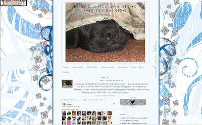 Picture of Rudy's blog with the old background, white/blue colored.   New Year's theme