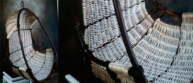 L 39 atelier de vannerie de marie balancelle en osier tress - Balancelle oeuf en osier ...