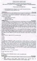 Subiect informatica titularizare 2009 - judetul Brasov