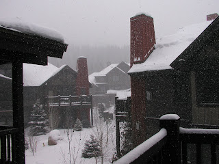 snow storm at Copper Mountain, Colorado