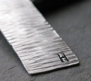 personalized hand hammered aluminum bookmark