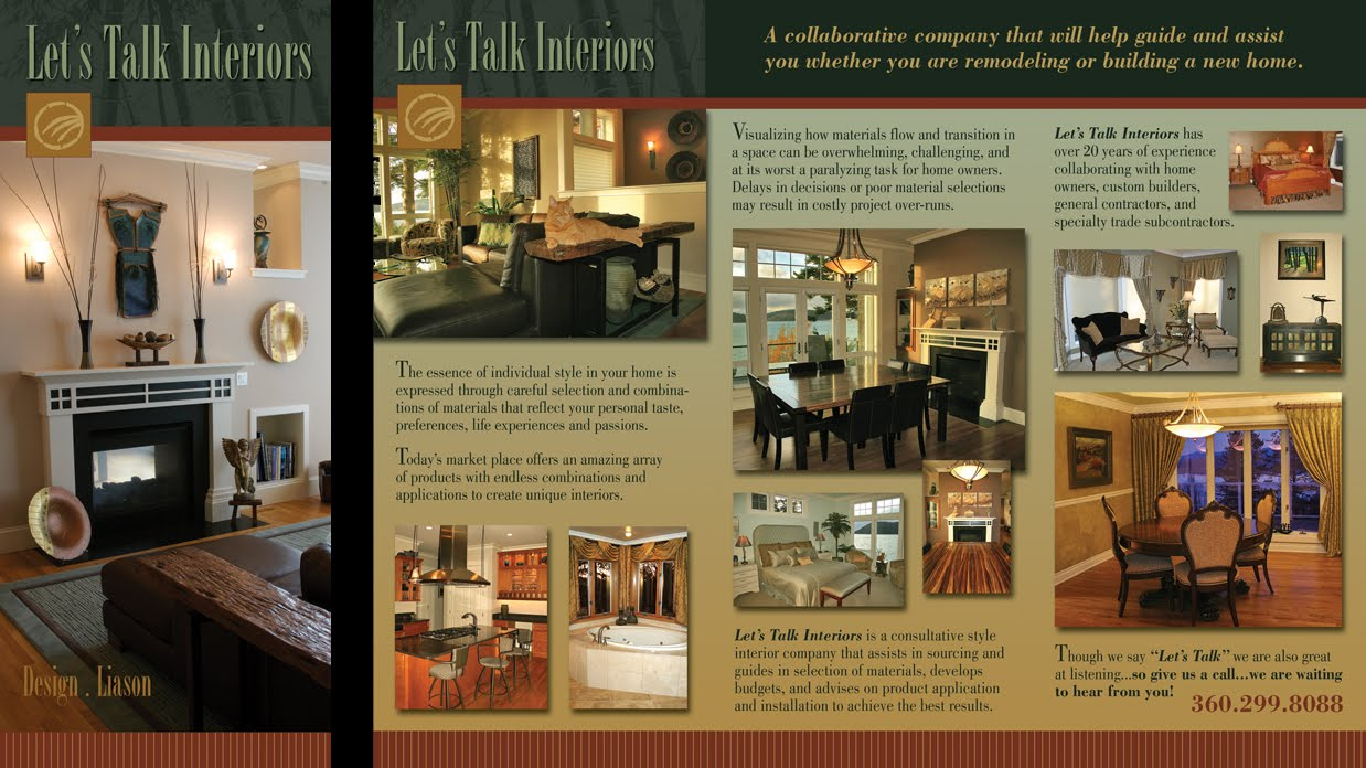 A shull design interior design brochure for Interior design brochures