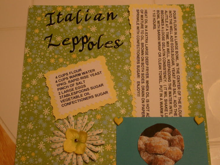 recipe card italian zeppoles