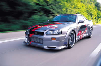 street racing car-nissan