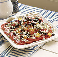 Tomato Salad with Feta, Olives & Mint