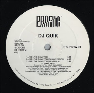 DJ.QUIK - JUS LYKE COMPTON (SINGLE 12'') (1992)