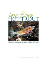 image of Clark Fork Coalition report cover page for Low Flows, Hot Trout