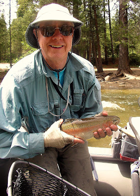 Frank Collin with a nice trout on the West Fork of the Bitterroot River