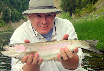Mike Tollison on the Clark Fork River - photo by Dave Heimes