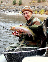 Terry Nobles on the Clark Fork with Jack Mauer guiding