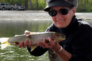 Naomi Shields with a cutthroat trout