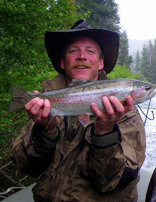 Billy Burk with a Bitterroot Trout