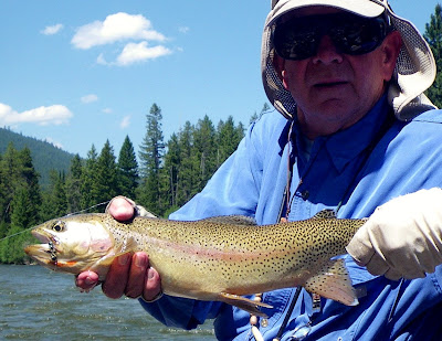 Colonel Rogers with his cutthroat trout