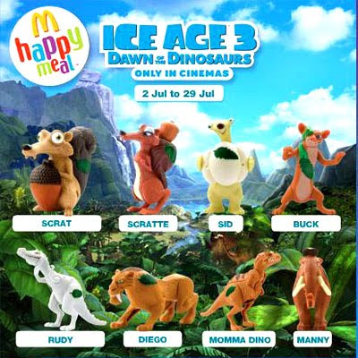 marcs collections 2 mcdonalds happy meal ice age 3