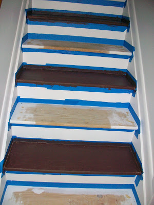 pine tree home painted stairs two. Black Bedroom Furniture Sets. Home Design Ideas