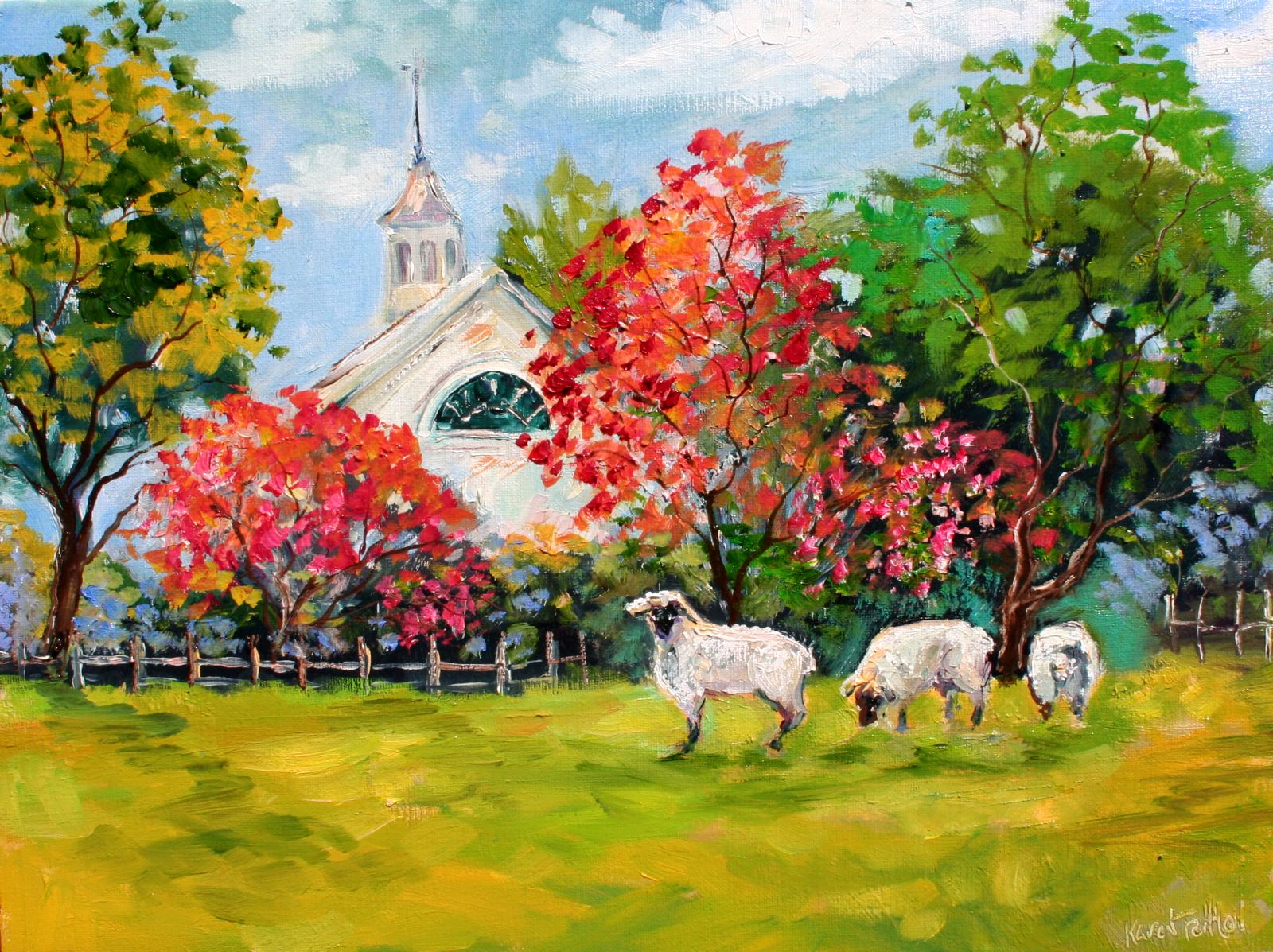 Karen Tarlton - Page 3 Tarlton+Original+Oil+painting++Cottswolds+England++Sheep+art+eBay+022i