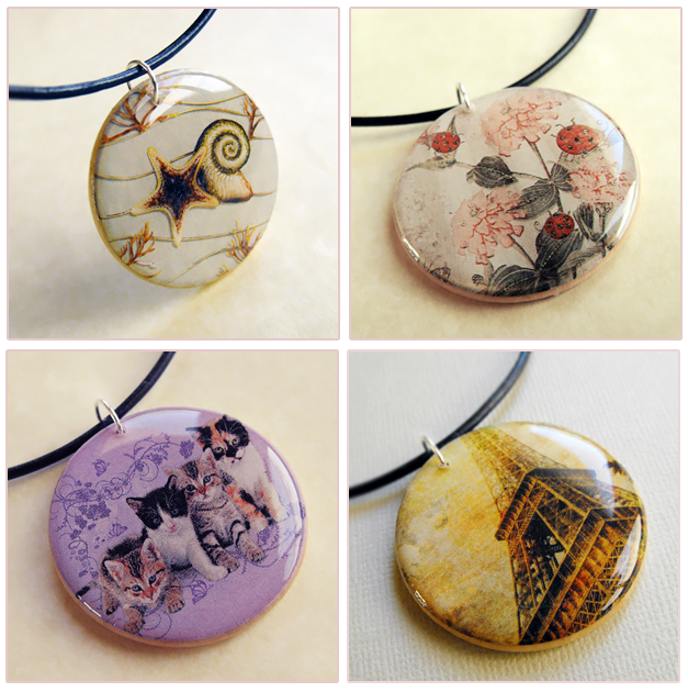 By earth expressions recycled paper pendants by earth expressions aloadofball Gallery