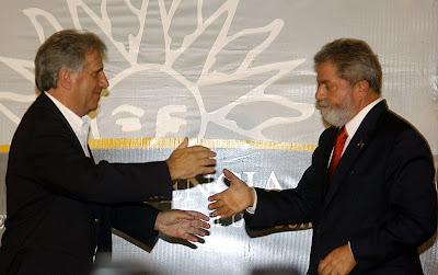 Tabaré Vásquez et Luiz Inácio Lula da Silva