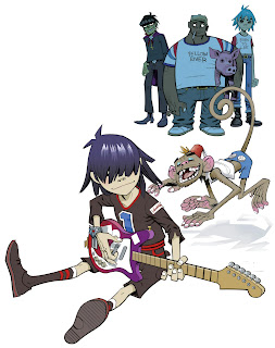 super post de imagenes de gorillaz
