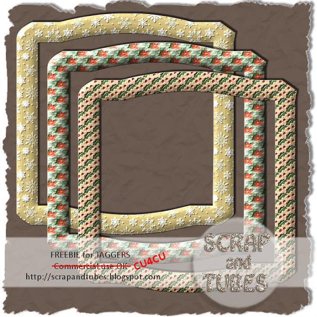 Xmas Frames (CU4CU) SAT_Xmas+Frames_Preview_Scrap+and+Tubes
