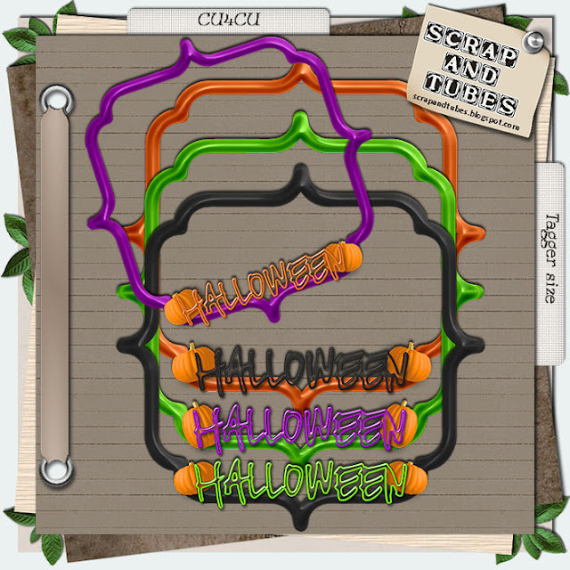 Halloween Frames (CU4CU) .Halloween+Frames_Preview_Scrap+and+Tubes