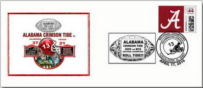 Alabama Crimson Tide National Championship Limited Edition Commemorative Cachet