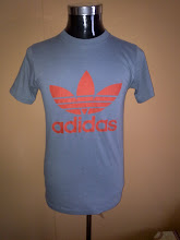 VINTAGE ADIDAS 50/50 BLUE TAG SHIRT RARE COLOUR (SOLD)