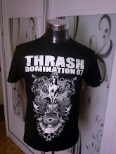 THRASH DOMINATION 07 THRASH METAL BAND SHIRT- NUCLEAR ASSAULT,DESTRUCTION,ANNIHILATOR,N NEVERMORE 1