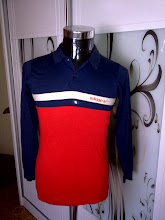 VINTAGE ADIDAS 3 TONE COLOUR 50/50 LONGSLEEVES COLLAR SHIRT (SOLD!!)