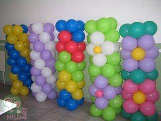 Coluna com balões