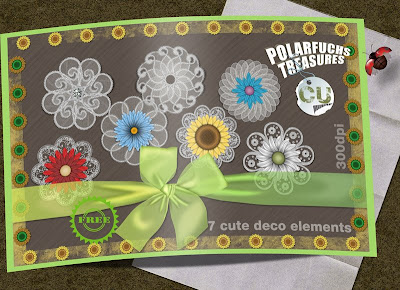 Scrap Freebie: Delicate Deco Elements in Lace Style