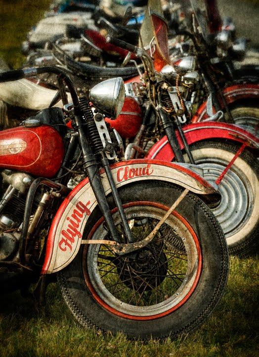 Old Harley-Davidson Motorcycles